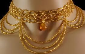 topaz crystal necklace images Swarovski crystal gold czech glass beaded victorian choker aftcra jpg