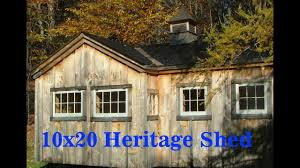 10x20 heritage two room l shaped backyard storage and garden shed