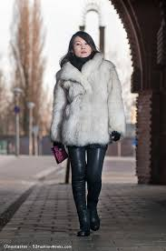 biker boots fashion ghi in jimmy choo biker boots and blue fox fur coat 52 fashion weeks