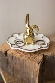 acrylic dish ring holder images Rabbit ring holder ceramic jewelry dish outlines and rabbit jpg
