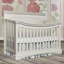 Antique White Convertible Crib Moda Flat Top Fixed Side Crib Antique White Ebay