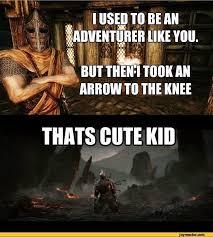 Funny Dark Souls Memes - skyrim arrow in the knee dark souls memes games