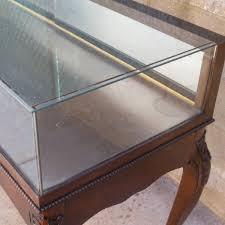 Display Case Coffee Table by Antique Walnut Showcase Antique Display Cabinet Antique Furniture