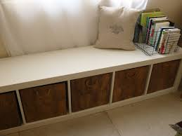 Bench Storage Seat Wood Storage Bench With Cushion Dans Design Magz