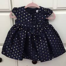 carter u0027s gorgeous navy blue u0026 gold polka dot dress from audrey u0027s