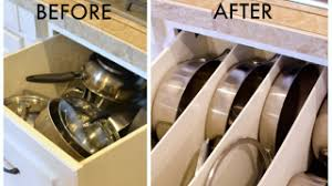 Organizing Pots And Pans In Kitchen Cabinets Organize Pots And Pans With Diy Drawer Panels