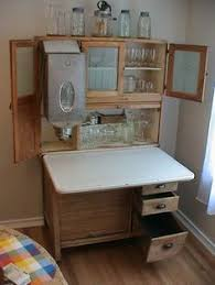 Antique Kitchen Cabinet With Flour Bin Antique Hoosier With Flour Bins Have The Bottom Would Like The