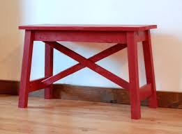 ana white small easy rustic x bench diy projects