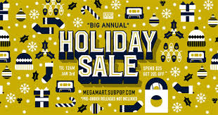it u0027s the most wonderful time of the year to shop sub pop mega mart