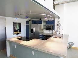 light colored concrete countertops modern kitchen concrete countertops light brown wooden table white