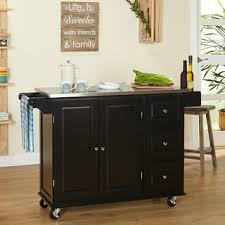 Rubberwood Kitchen Cabinets Simple Living Espresso Natural Country Cottage Kitchen Cart Free