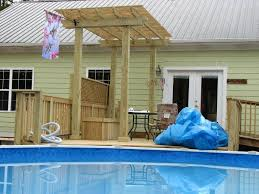 Pergola Ideas Pinterest by Above Ground Decks For Pools Deck And Pergola Around Above