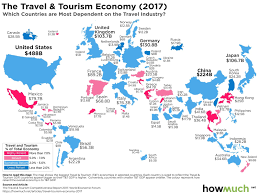 Spain On A World Map by Which Countries Are Most Dependent On The Travel Industry