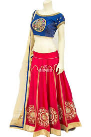 blue u0026 red color party wear chaniya choli