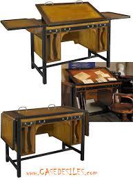 bureau dessinateur bureau architecte bois et laiton modulable mf086
