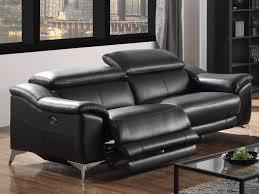 canapé relax electrique 3 places canapé 3 places relax électrique en cuir noir daloa déco