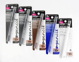 maybelline lasting drama waterproof gel eye pencil review swatch