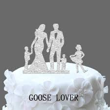 family wedding cake toppers family wedding cake topper with two boy and one girl wedding