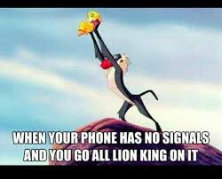 Lion King Cell Phone Meme - when your phone has no signal lion king it mobile humor