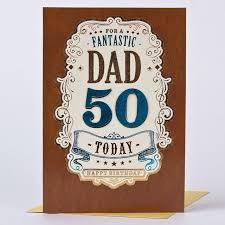 50th birthday card dad bronze 50 today only 1 29