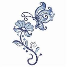 jacobean flowers and butterflies free at starbird stock designs