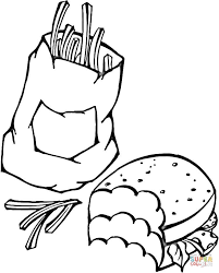 fast food coloring page free printable coloring pages