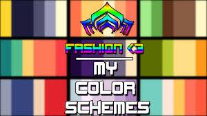 all my warframe color schemes 2017 fashion youtube