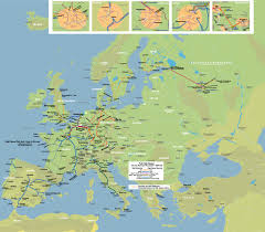A Train Map High Speed Rail Map Of Europe Johomaps