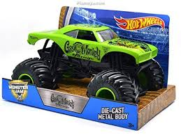 mattel hotwheels 1 24 scale monster jam gas monkey garage