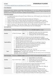 T Sql Resume Dkumar Excel With Vba Sql Cv Doc Having 3 5 Yr Exp In Mis