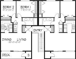 multi level floor plans multi unit house plan 146 1565 4 bedrm 1564 sq ft per unit home