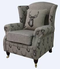 high back wing armchair ebay