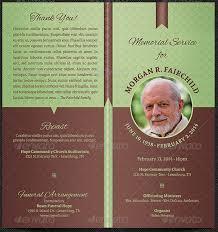 Template For Funeral Program Bi Fold Funeral Program Template Godserv Market
