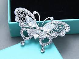 rhinestone hair butterfly rhinestone crystals clip wedding bridal hair alligator