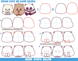 how to draw a bear step by step easy