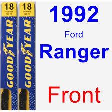 ford ranger wiper blades 1992 ford ranger wiper blade set kit front 2 blades premium