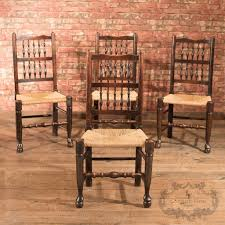 Oak Spindle Back Dining Chairs Set Of 4 Spindle Back Chairs Oak C 1900