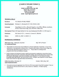 Resume Sample Format For Ojt by Java Programmer Resume Sample Free Resume Example And Writing