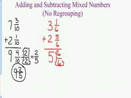 adding and subtracting mixed numbers youtube