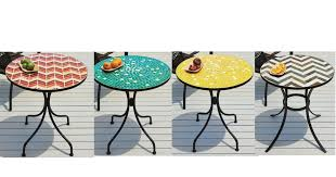 Mosaic Bistro Table Home Design Outdoor Mosaic Tables Outdoor Mosaic Tile Side