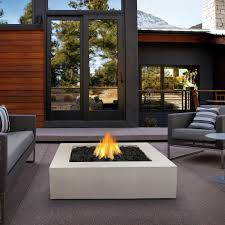 mezzo 42 inch propane gas fire pit table by real flame square