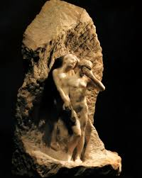 adam and eve expelled from paradise auguste rodin wikiart org