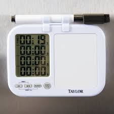 kitchen white board 5849 digital 4 channel kitchen timer with white board and dry