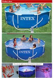 Intex Inflatable Swimming Pool Intex 56999 Metal Frame Large Capacity Outdoor Family Swim