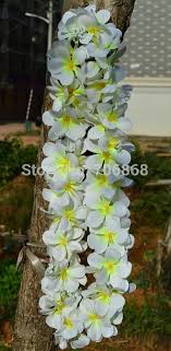 plumeria flowers free shipping artificial hawaiian leis party flowers silk hawaii
