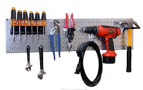 steel pegboard tool organizer storage kit garage or work shop