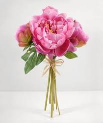 Rose Bouquet Fuchsia 9in Peony Bouquet In Pink And Cream Peonies Bouquet Peony And Weddings