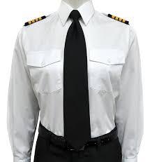 amazon com lady elite pilot uniform shirt women u0027s long sleeve