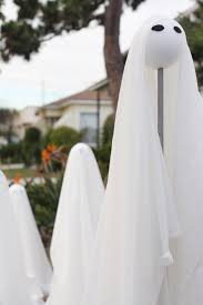 outdoor halloween decorations a ghost family jest cafe