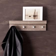 southern enterprises clytie dark oak wall mounted coat rack with 4